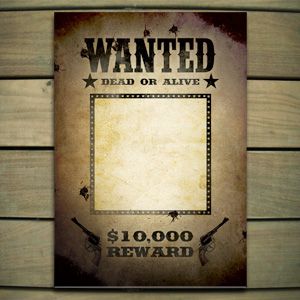 Wanted Sign Template Free