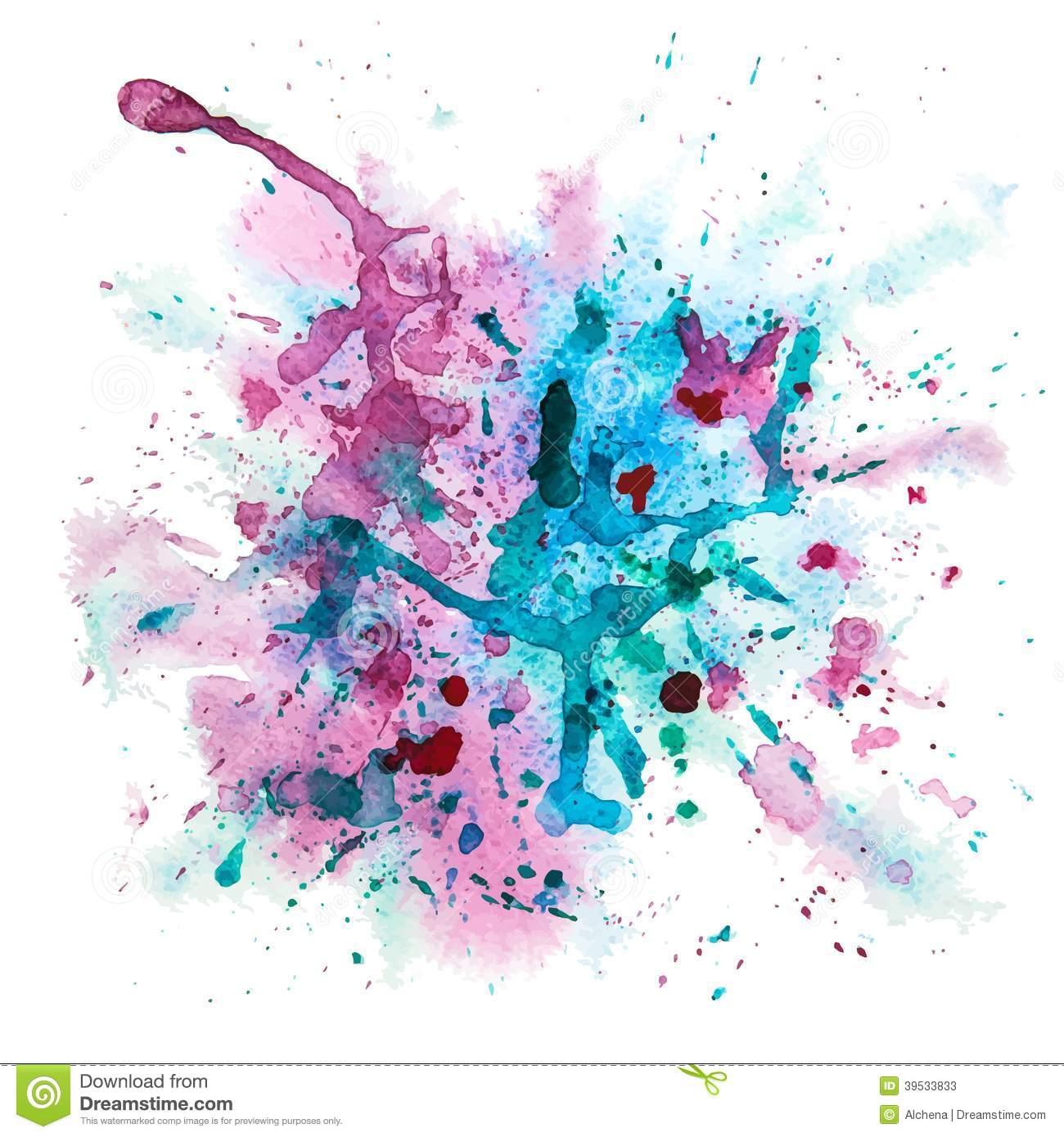 8 Watercolor Splash Vector Images