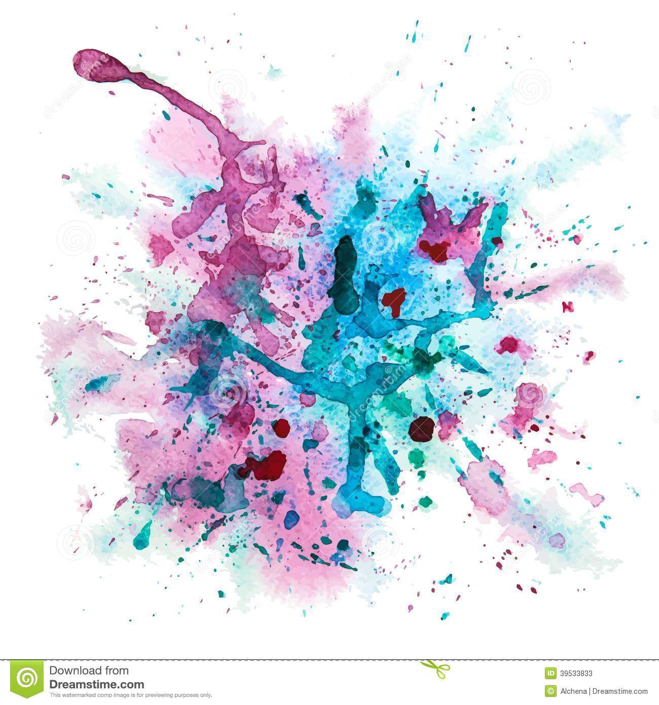 10 Multicolor Watercolor Splash Vector Images
