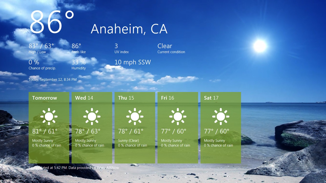 Weather App Windows 8