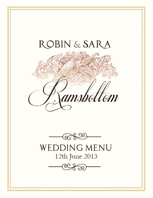 Wedding Menu Templates Free Download