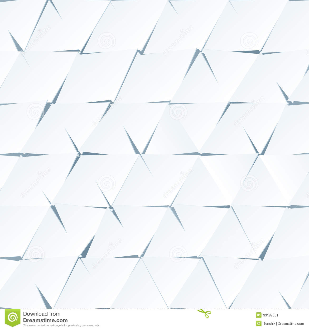 White Paper Abstract Triangles