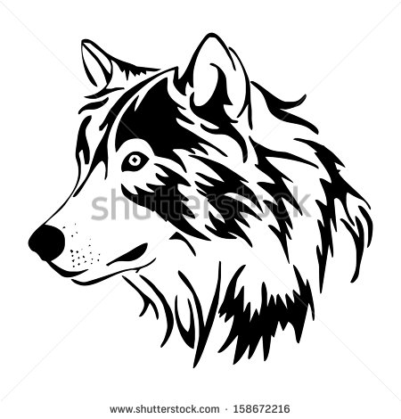 12 Wolf Head Vector Images